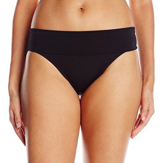 Seafolly Women's Roll Top Pant Bikini Bottom, Black, sz: 8