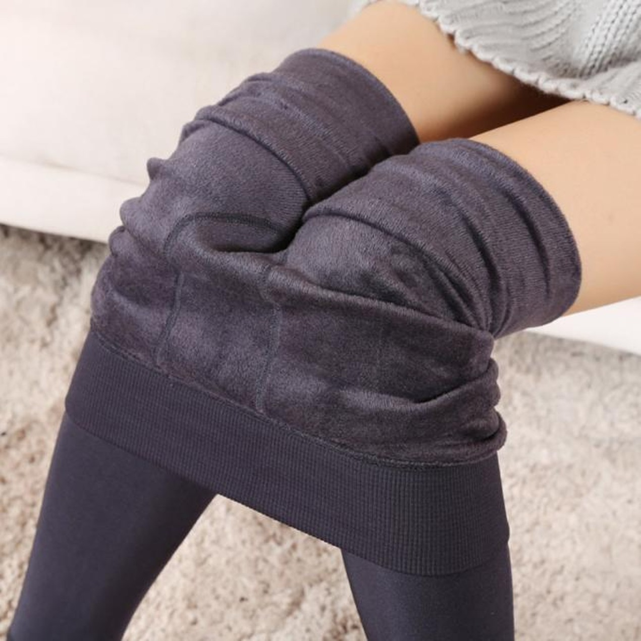 516c30f455f2be ... Women Winter Thick Warm Fleece Lined Thermal Stretchy Leggings Pants ...