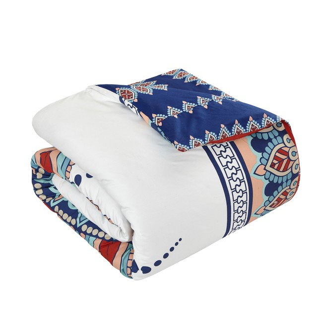 Chic Home 4 Piece Aztlan 100% Cotton  XL Frame Boho Printed Duvet Cover Set