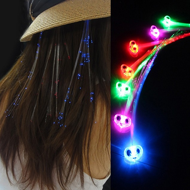 Party Cool Cilp Glow LED Hair Extension