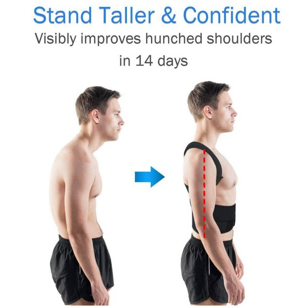 Adjustable Back Posture Brace Support