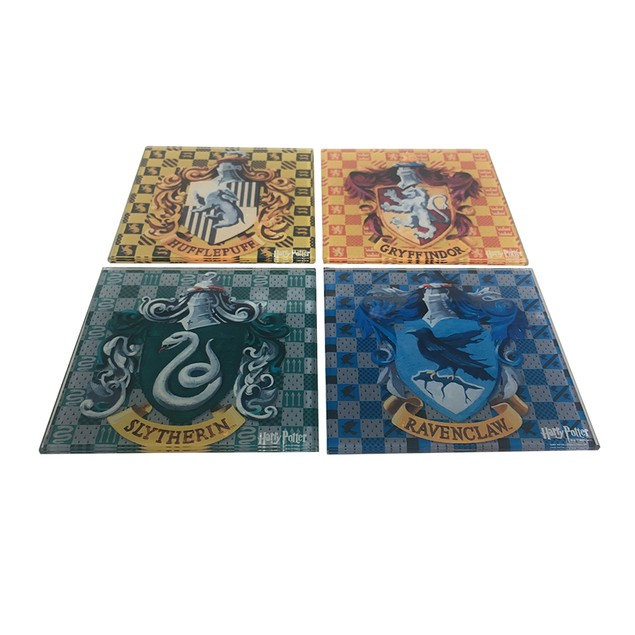 Harry Potter Crests Logos 4-Pack Glass Coasters