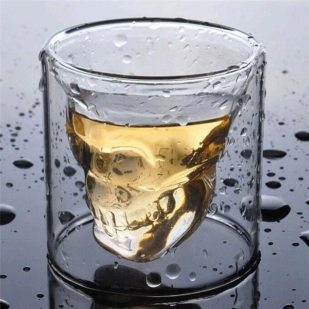 3D 75ML  Crystal Skull Shot Glass Cup