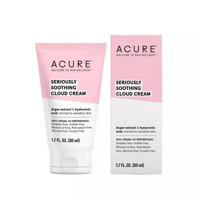 Acure Seriously Soothing Moisturizing Cloud Cream for All Skin Types, 1.7