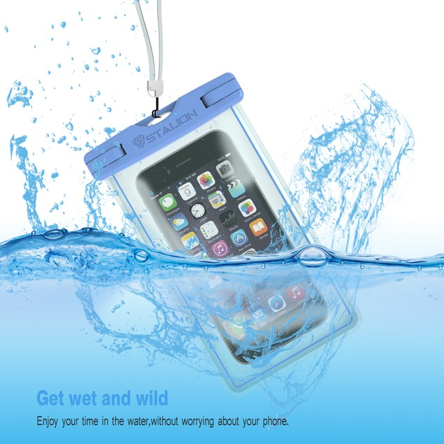 Stalion Underwater Waterproof Bag Pouch Case Cover For iPhone 6s Galaxy S6