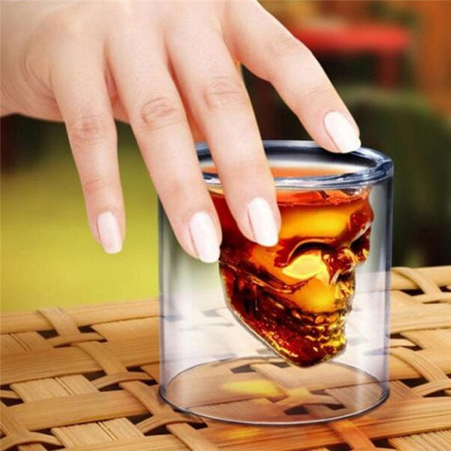 3D 75ML  Crystal Skull Shot Glass Cup
