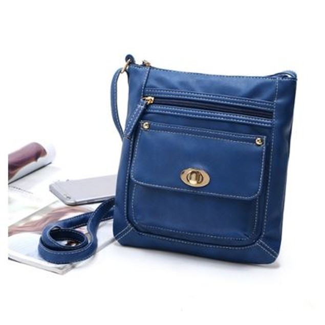 Turn Button Cross Body Purse