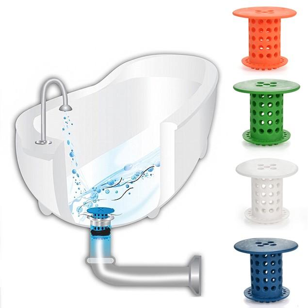 Bathroom Tub/Sink Drain Snare Silicone Catcher Stopper Strainer Filter