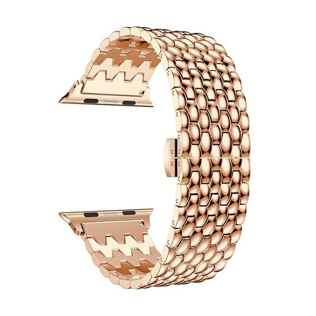 iPM Stainless Steel Glossy Chain Link Band for Apple Watch