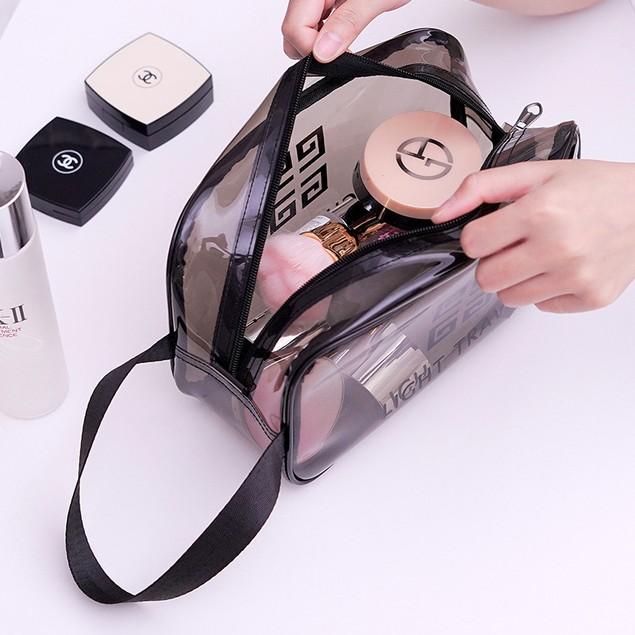3Pcs Travel Makeup PVC Toilet Bag Female Portable