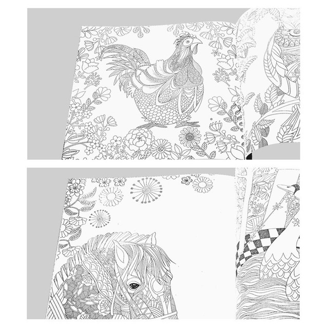 Fun Adult Coloring Book Designs Stress Relief Coloring Book
