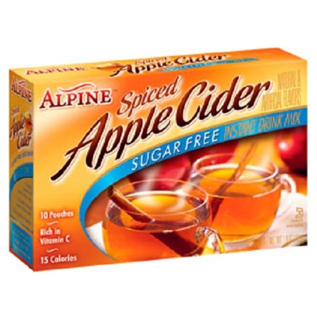 Alpine Sugar Free Spiced Apple Cider Instant Drink Mix