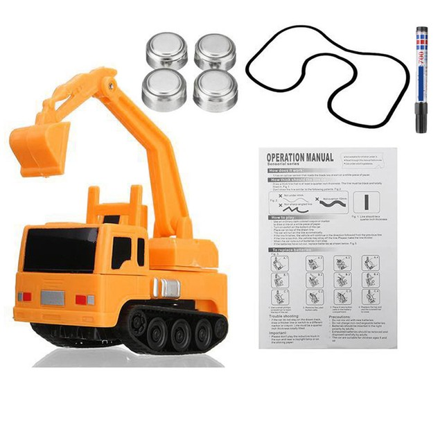 Follow Any Drawn Line Magic Pen Inductive Car Truck Model Kids Toy Gift