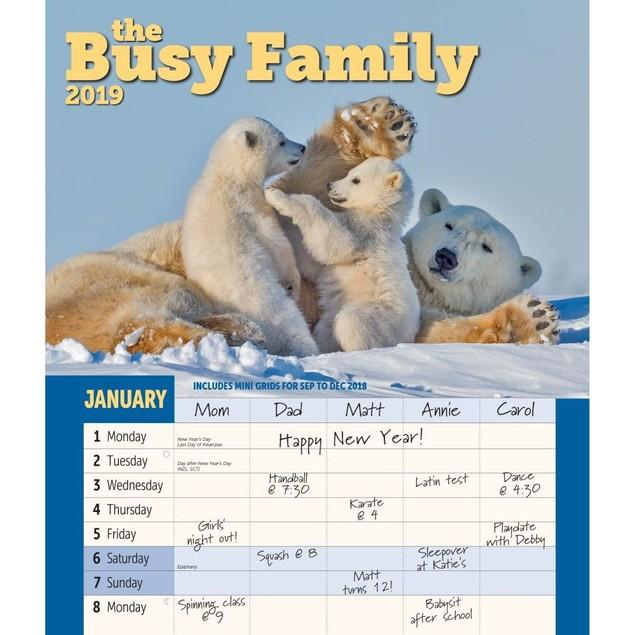 Busy Family Wall Calendar, Family Organizer by Calendars