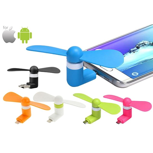 Portable Fan Attachment for iPhone & Android Smartphones