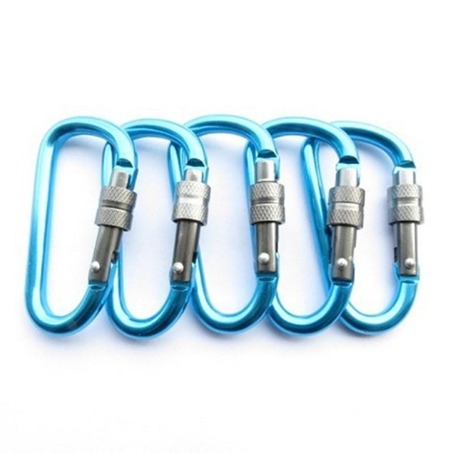 Aluminum Hook Camping Keychain Carabiner Hooks