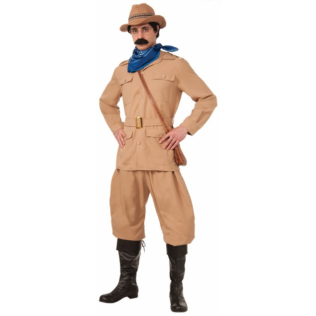 Theodore Roosevelt Costume Teddy Night Museum Robin Williams Deluxe Adult