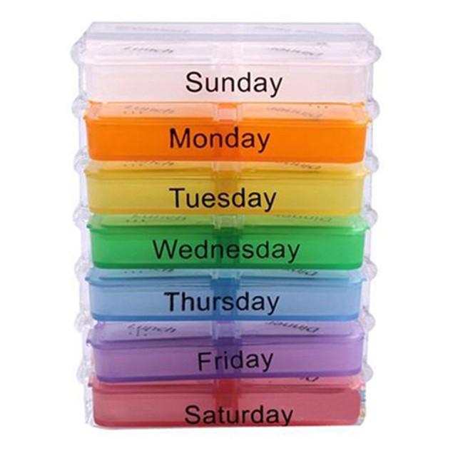 7 Days Travel Medicine Tablet Holder Dispenser Organizer Storage Pill Box