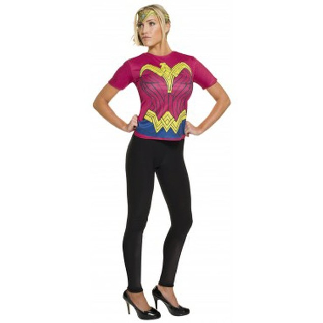 Wonder Woman Costume Top and Headpiece Batman v Superman Dawn of Justice DC