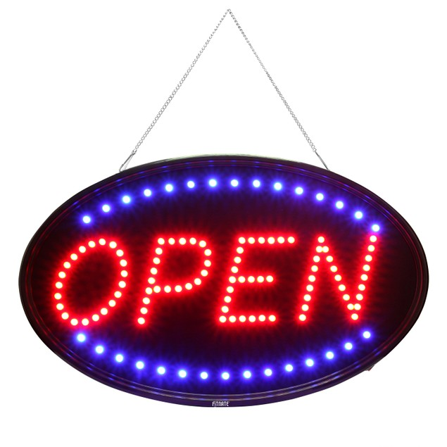 Fitnate®  neon OPEN Sign, 23x14inch LED Business Open Sign  Larger Size