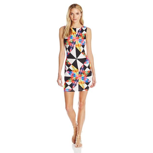 Mara Hoffman Women's Fractals Cut Out Back Mini Dress SIZE MEDIUM