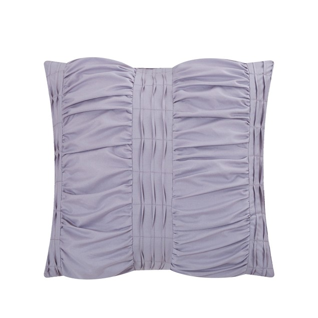 Chic Home 5/6 Piece Serendra Striped Ruched Ruffled Bedding Comforter Set