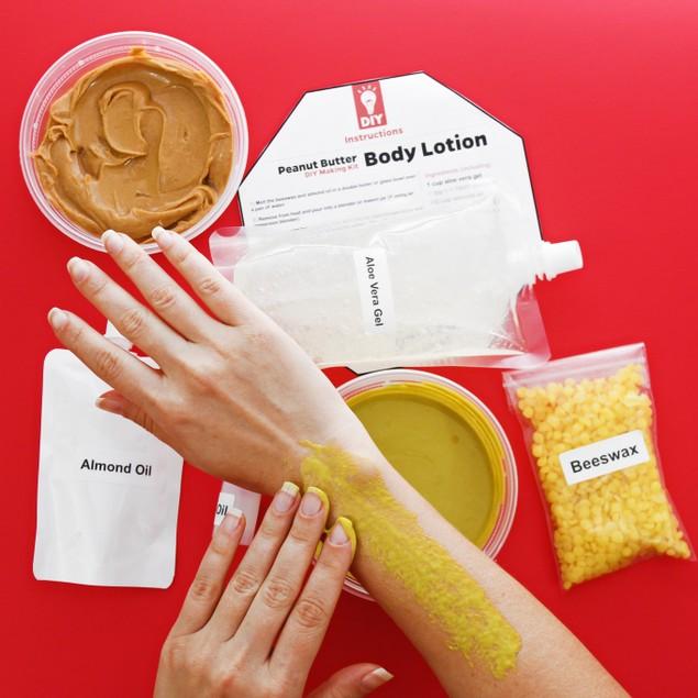 Peanut Butter Body Lotion DIY Making Gift Kit