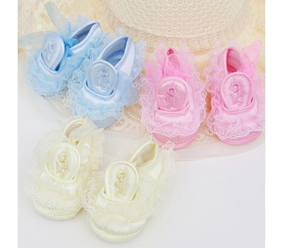 Lace Flower Girl Shoes Width F