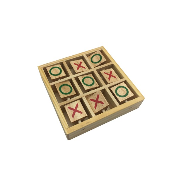 Zummy Natural Wooden Tic Tac Toe Game Puzzle - Mini Size