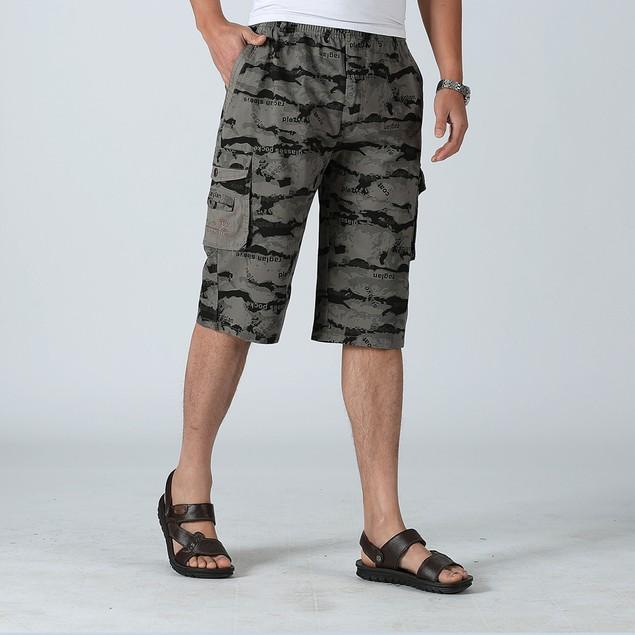 Men Camouflage Shorts Cotton Homme Loose Casual Pants