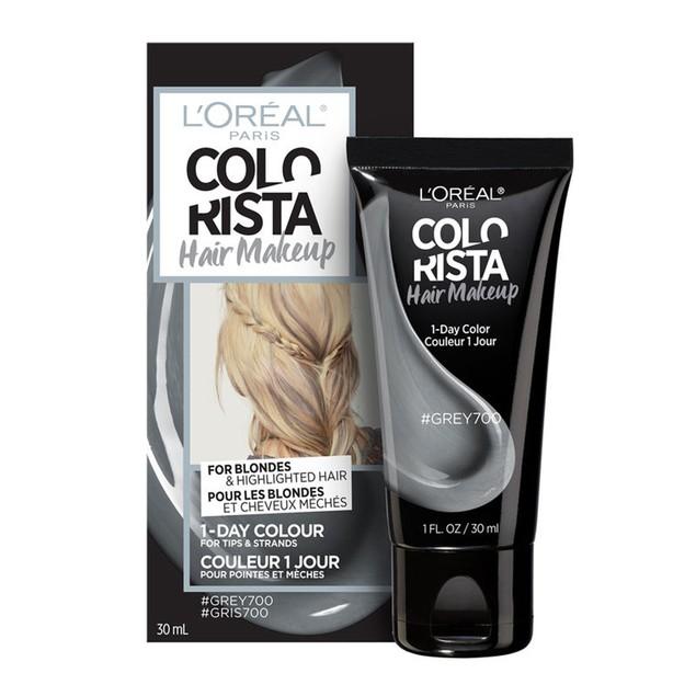 L'Oreal Paris Colorista Semi-Permanent Hair Makeup For Blondes, Grey 700-