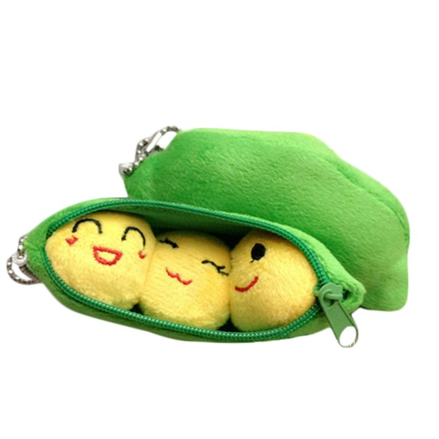 3 Peas In A Pea Pods Soft Cute Creative Toy Pendant
