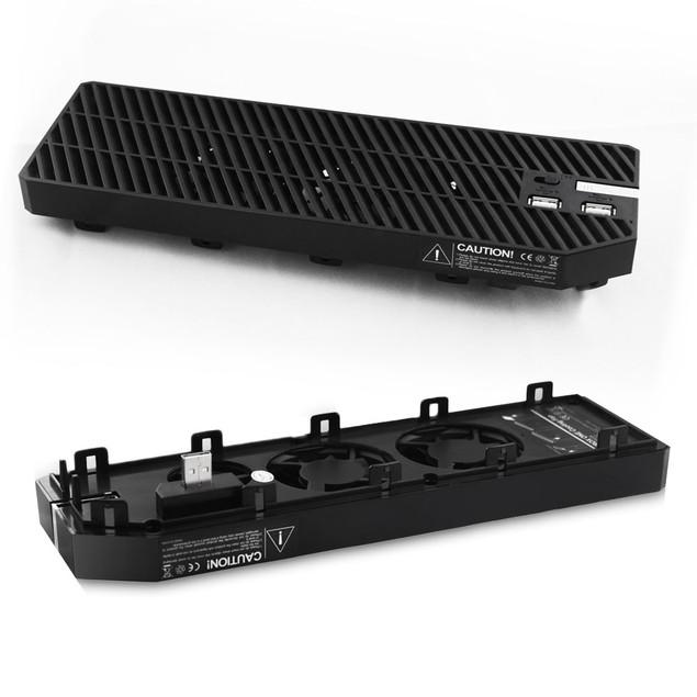 Agptek Xbox One Cooling Fan, 3 Cooler, with 2 Ports USB Hub BLACK