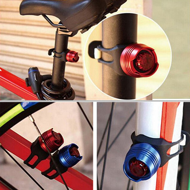 LED Waterproof Bicycle Cycling Front Rear Tail Flashing Light