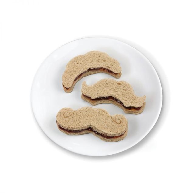 Crustache Mustache Sandwich Cutter