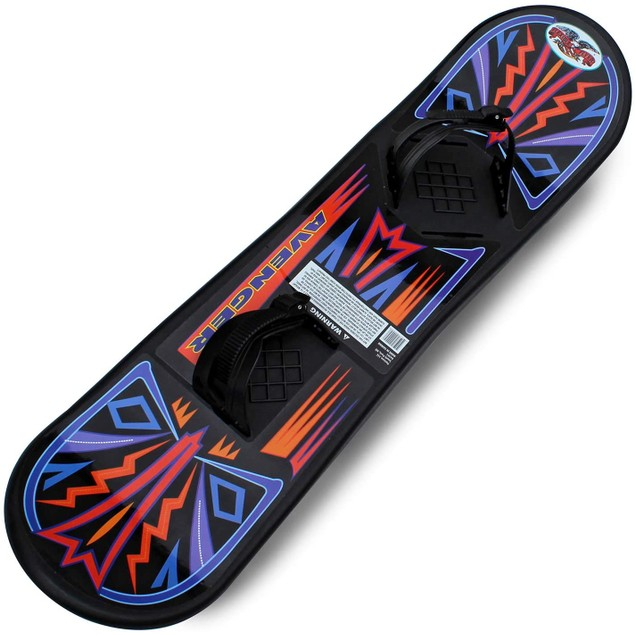 "Flexible Flyer 37"" Avenger Snow Board w/ Molded In-Foot Pads, For Ages 8+"