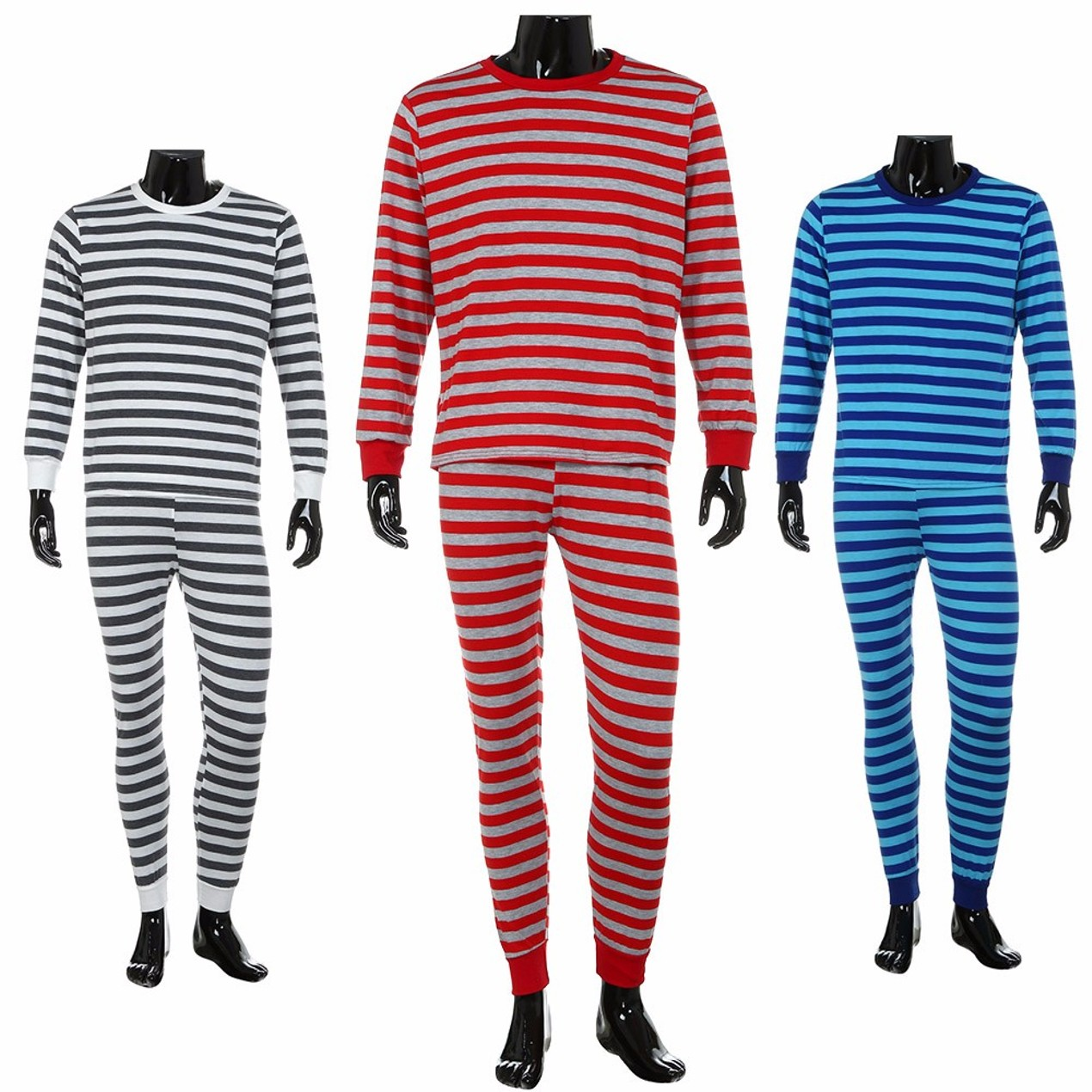 mens family matching christmas pajamas set striped blouse pants