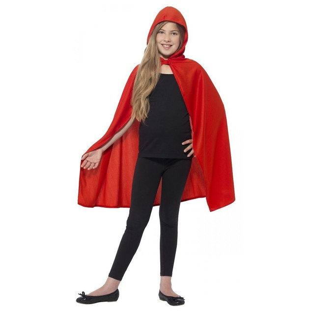 Child Red Hooded Cape