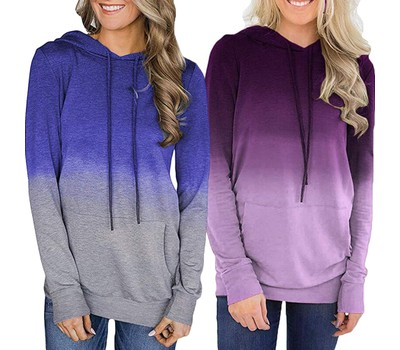 Super Soft Tie-Dye Ombre Hoodie Shirt Was: $49.99 Now: $23.99.