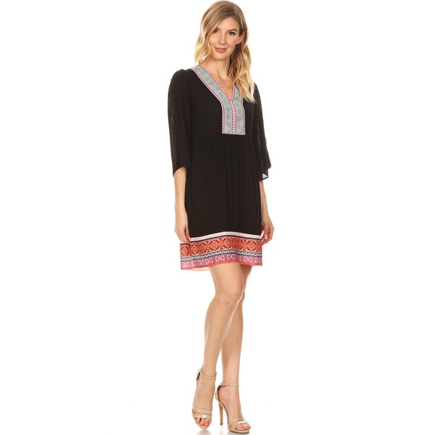 Gabrielle Embroidered Dress - 4 Colors