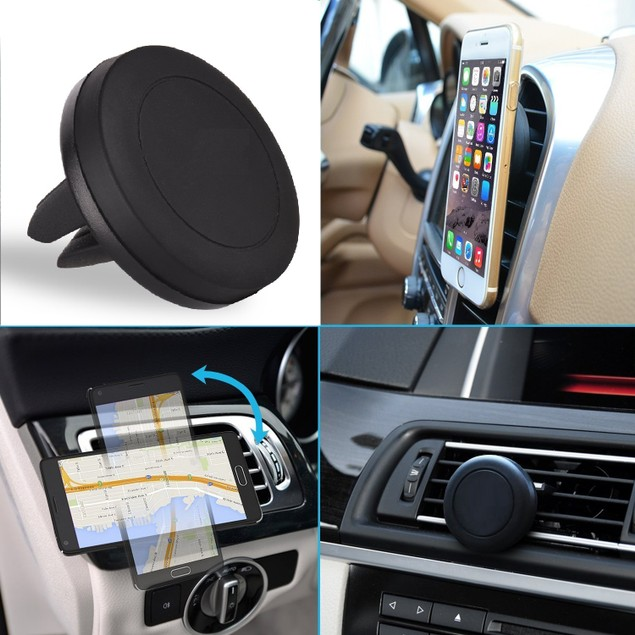 Universal Magnetic Car Vent Mount for Smartphones & GPS Devices