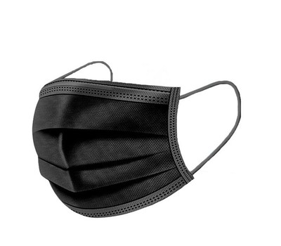 {50-Pack} Black Disposable Non-Medical 3-Ply Face Mask Was: $49.99 Now: $14.99.