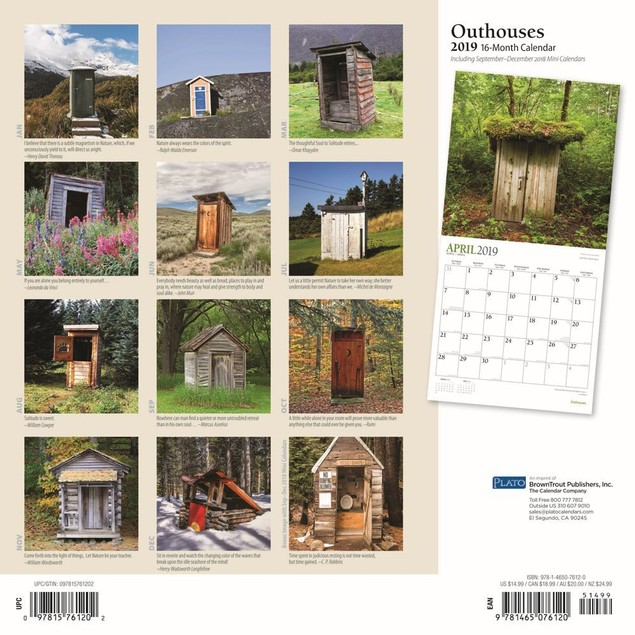 Outhouses Plato Wall Calendar, More Travel | Scenic by Calendars