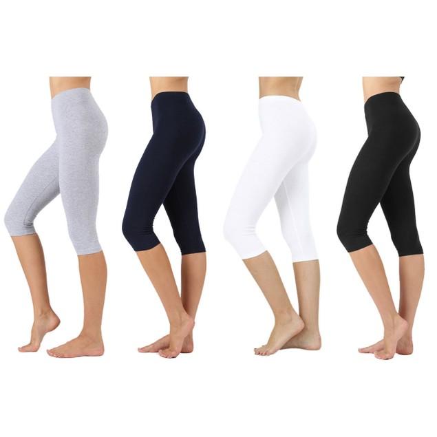 4-Pack Women's Everyday Capri Leggings