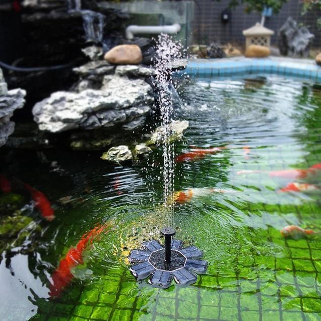 Power Fountain Water Pump Floating Panel Pool Pond Watering Kit