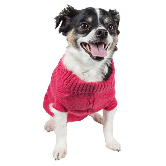 Heavy Cotton Rib-Collared Pet Sweater