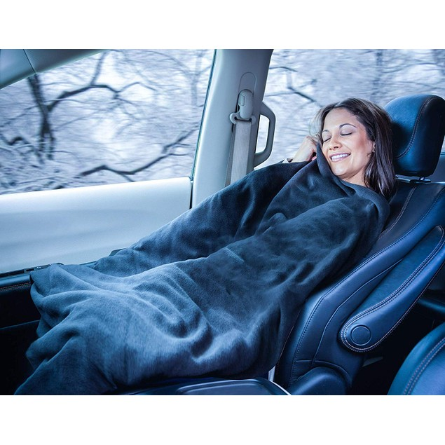 2-Pack Zone Tech Car Heated Travel Blanket 12V Heating Seat Blanket