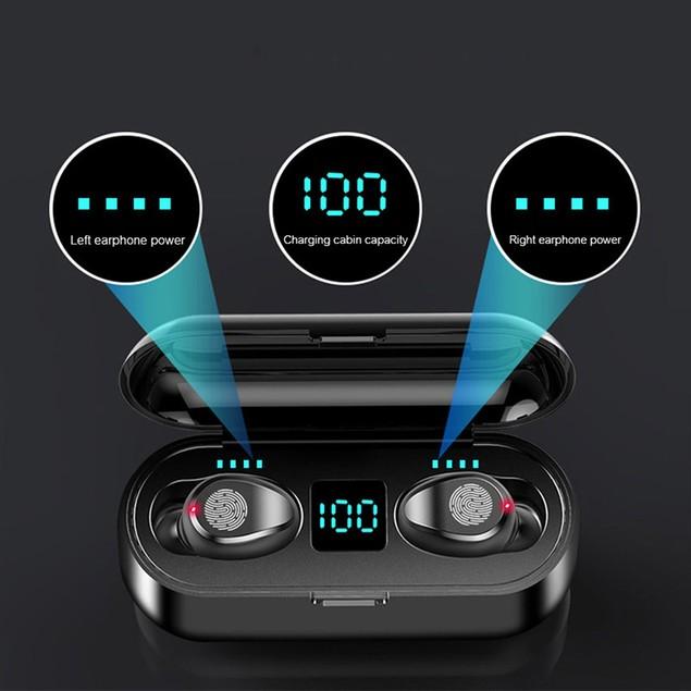 TWS Wireless Headset with 2000mAh Power Bank Case