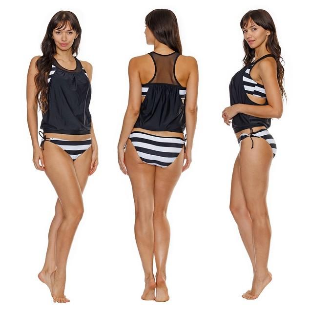 Black & White Stripe Tankini