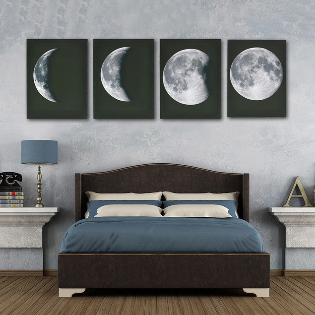 4 Panel Modern Oil Painting Wall Art Picture Canvas Unframed  Home Decor